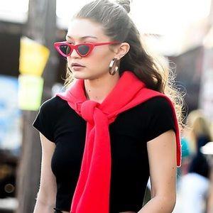 Red Cat-Eye Sunglasses